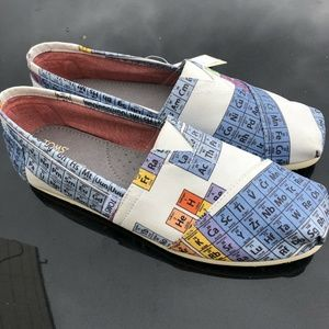 Toms Classic Slip On Shoes Blue Green Periodic